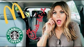 Letting the Person in Front of Me Decide What I Eat For a Day! | Paige Danielle