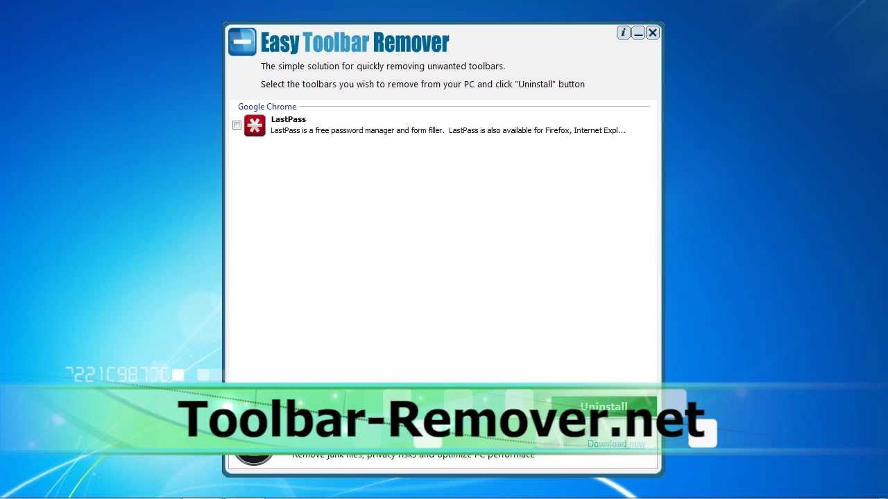 how to get rid of avg toolbar