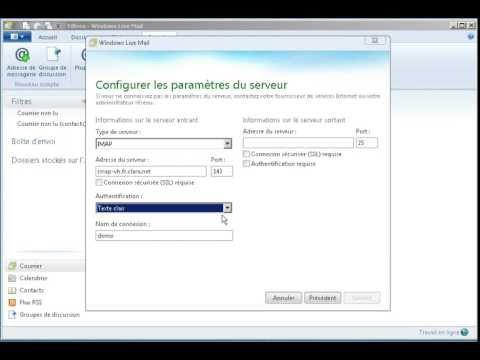configurer gmail sur windows live mail 2012