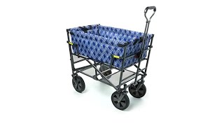 Mac Sports Double Decker Foldable Wagon with Shelf and C...