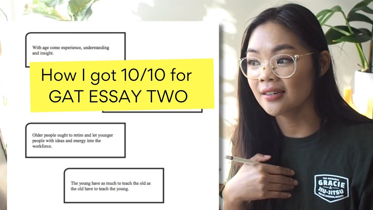 Download Reading my perfect 10/10 marked PERSUASIVE GAT essay | Part 2