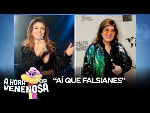 """""""Aí que falsianes!"""", diz Fabíola Reipert sobre briga de sertanejas"""