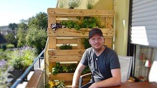 Blumen- und Kräuterbeet selber bauen (aus Paletten)