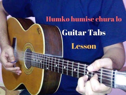 Humko humise chura lo guitar tabs lead lesson cover | Mohabbatein