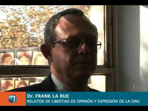 Frank La Rue entrevista exclusiva con Télam