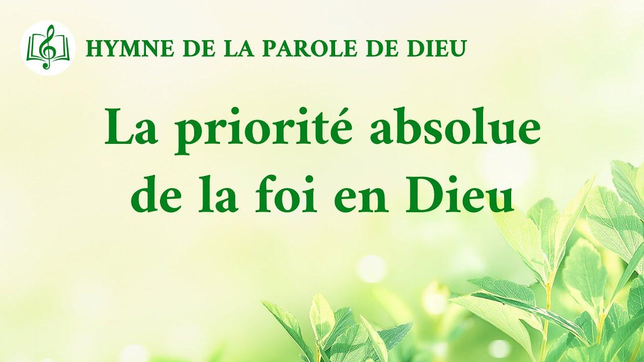 Musique chrétienne en français « La priorité absolue de la foi en Dieu »