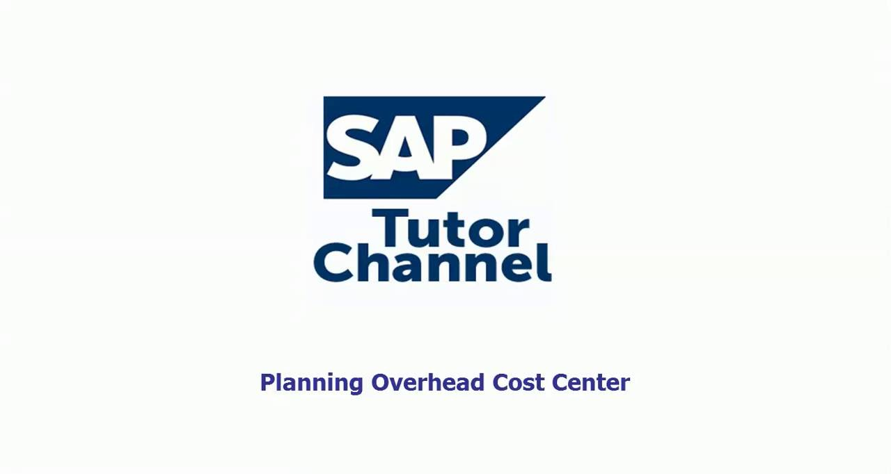 Accounting Planning Overhead Cost Center