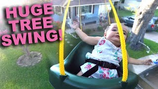 HUGE TREE SWING WITH GOPRO AND CHILDREN 3 YEARS LATER!