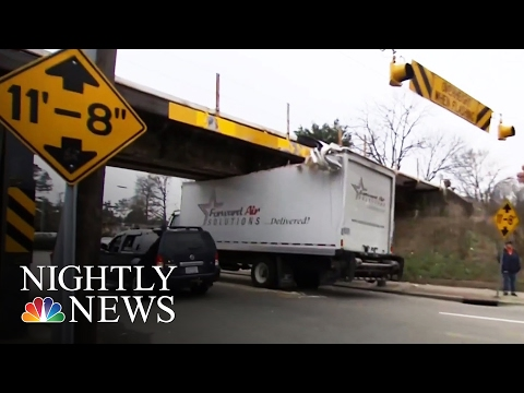 This Bridge Continues Wreaking Havoc on Unsuspecting Truck Drivers | NBC Nightly News