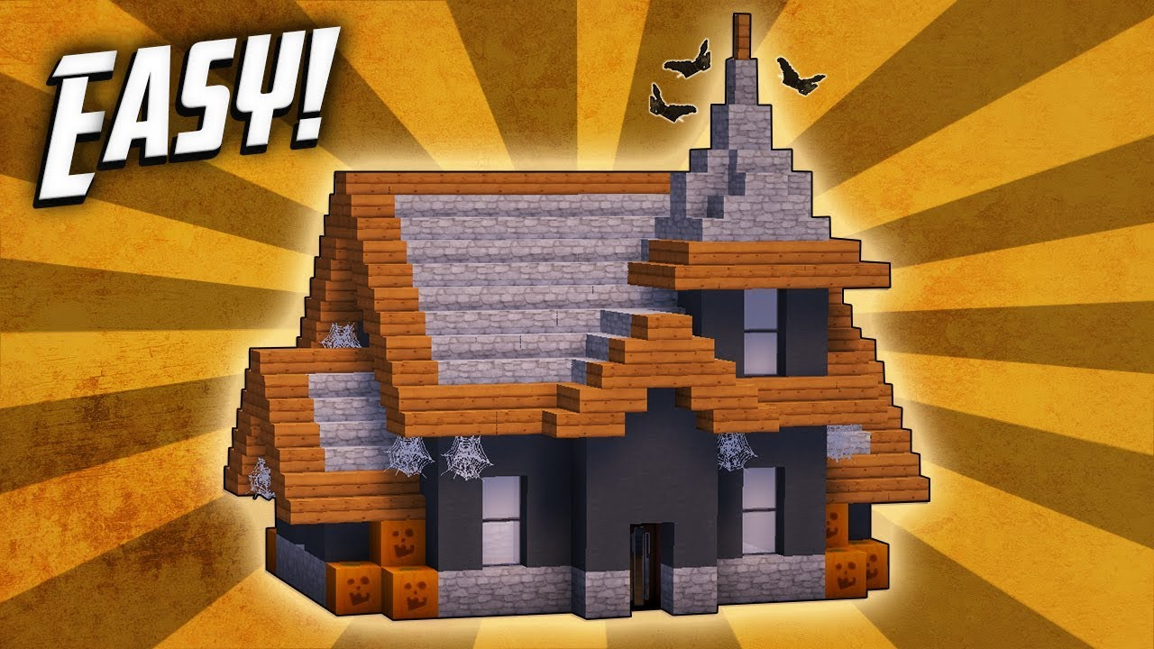 Minecraft How To Build A Haunted Halloween House Tutorial Youtube
