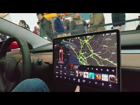 Trying out the Tesla Model 3, January 7th 2018 San Jose California
