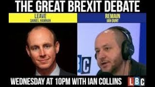 Brexit fallout: Ian Dunt vs Dan Hannan full  LBC debate fact checked