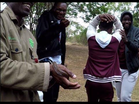 Snake awareness exhibition with Africa University students - ZENWE Trust