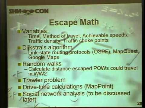 The Geek and the Gumshoe or Can Math and Computers Really Solve Crimes? (ShmooCon 2008)