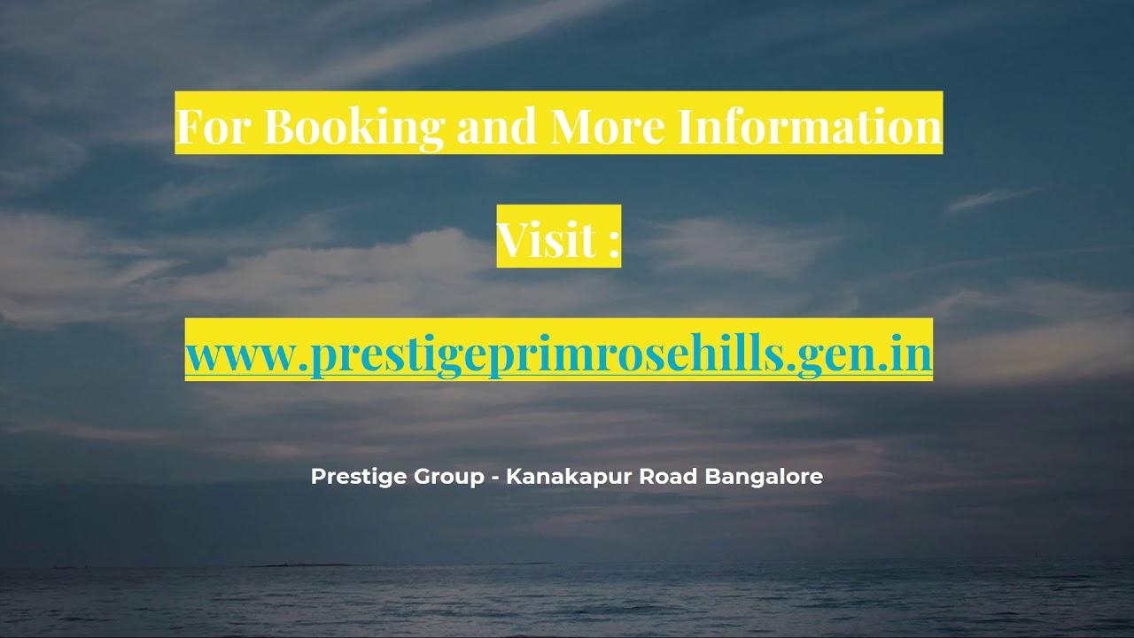 Prestige Primrose Hills at www.prestigeprimrosehills.gen.in