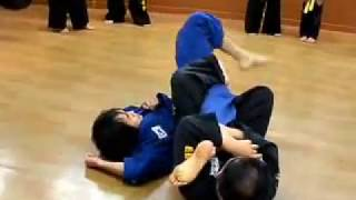 (46)inner reaping ankle throw & knee bar(Korea jiu jitsu Gongkwon Yusul)Hapkido