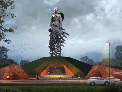 Под Ржевом завершен монтаж памятника Советскому солдату
