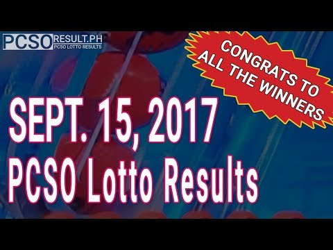 Pcso Lotto Results Today September 15, 2017 (6/58, 6/45, 4D