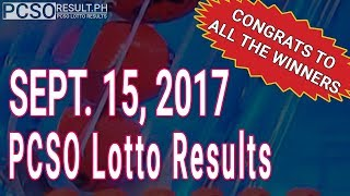 PCSO Lotto Results Today September 15, 2017 (6/58, 6/45, 4D, Swertres & EZ2)
