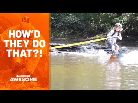 Kid Wakeboards To School | How'd They Do That?
