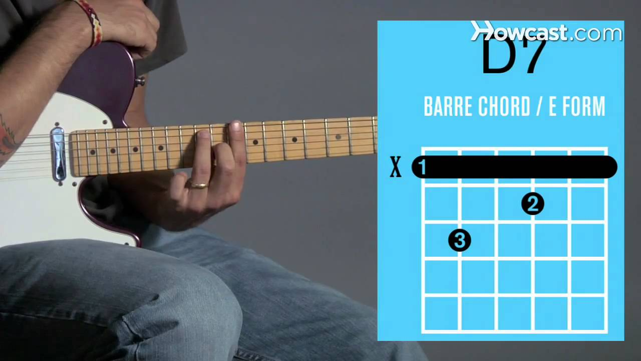 How To Play A D7 Barre Chord Guitar Lessons Youtube