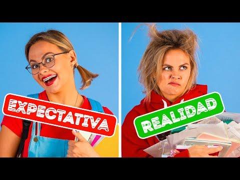 VOLVER A LA ESCUELA: EXPECTATIVA VS. REALIDAD || Situaciones divertidas por 123 GO! Spanish