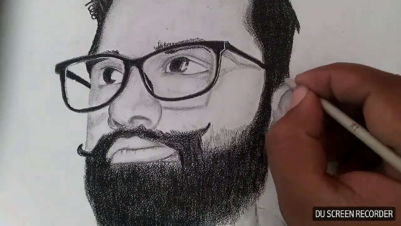 How to draw face fast and easy pencil sketch art of drawing my sketch drawn by baba arts