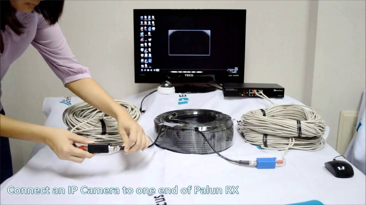 everfocus palun connect power up ip devices over coax cable youtube. Black Bedroom Furniture Sets. Home Design Ideas