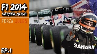 F1 2014 Career Mode! | Force India | The Ultimate Driver S3 E1 - Australian GP