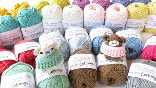 A new yarn stash share video for you guys today as I introduce to you some yarns by Hobium called La Mia Mini Cottony, which I am excited to use for some ...