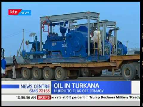 President Uhuru To Flad Trucks Carrying The 'Turkana Oil'   KTN News Centre