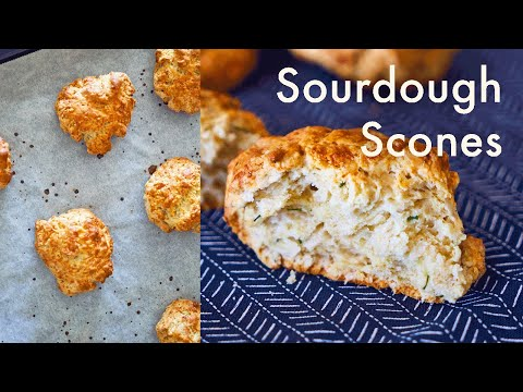 Cheddar & Sourdough Scones/Biscuits | What To Do With Discard Sourdough | ASMR | In Carinas Kitchen
