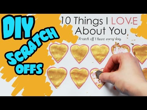"""How to Make DIY """"Scratch Off"""" Valentines Day Card Step by Step Tutorial 