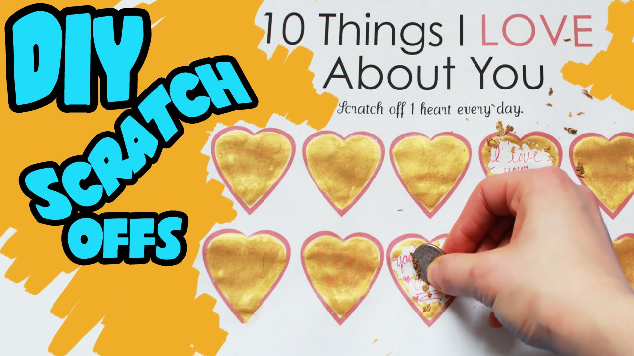 How to Make Scratch Off Valentines Day Card  Toy Caboodle  YouTube