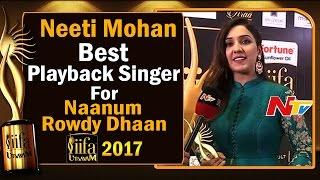 Neeti Mohan    Best Playback Singer Award for Naanum Rowdy Dhaan @ IIFA Utsavam
