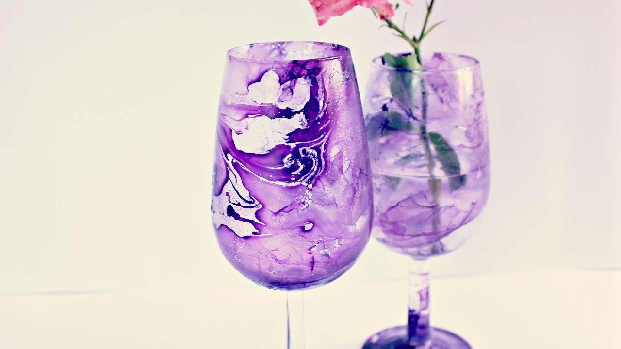 Crea un Fantastico Bicchiere Marmorizzato  Fai da Te