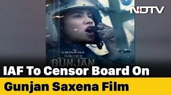 Iaf Writes To Censor Board Over Negative Portrayal In Gunjan Saxena Youtube