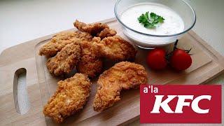 Stripsy z KFC - kawałki kurczaka w domowej chrupiącej panierce