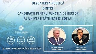 Candidații pentru funcția de rector al UBB susțin o dezbatere publică