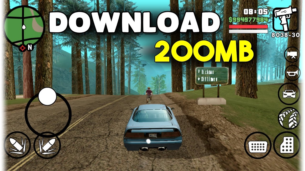 GTA SA Lite v8 (200MB) - Android | MALI (Download+Tutorial)