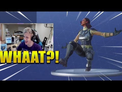 NINJA REACTS *NEW* SQUAT KICK DANCE/EMOTE ! Fortnite Battle Royale