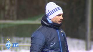 Dynamo Kyiv training before the match against Besiktas in Champions League