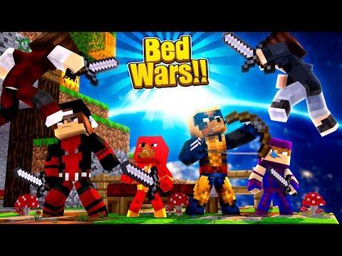 Minecraft Bedwars - JACK IS DEADPOOL!!! THE SUPERHERO OF BEDWARS!!!