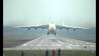 Amazing take-off Antonov 225 at Geilenkirchen NATO airbase (smokey!)