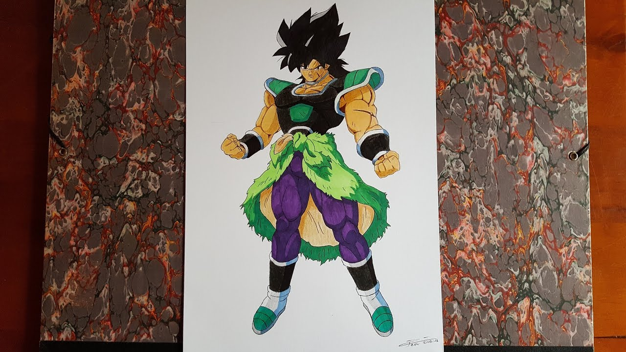 Drawing Broly Dragon Ball Super 2018 Youtube