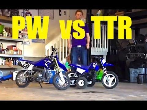 Yamaha TTR-50 and Yamaha PW-50 Comparison