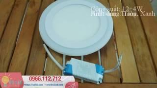 Đèn led âm trần tròn 12W +4W, 3 chế độ viền xanh: Thông số và hướng dẫn lắp đặt