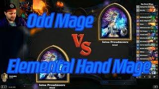 Elemental Hand Mage vs Odd Mage - Hearthstone