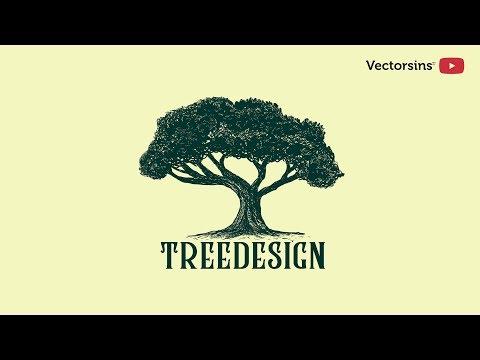 How To Create Classic Or Vintage Logo In Illustrator [] Tree Logo [] [] Illustrator Tutorial []