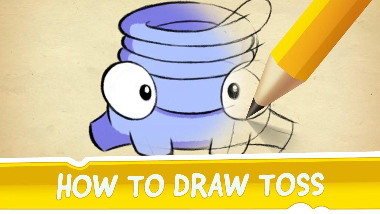 How to draw toss from cut the rope 2